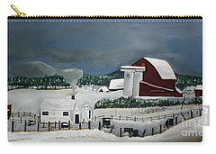 Amish Farm - Winter - Michigan Carry-all Pouch