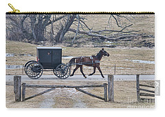 Amish Horse And Buggy March 2013 Carry-all Pouch