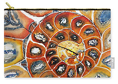 Ammonite Fossil Shell Carry-all Pouch