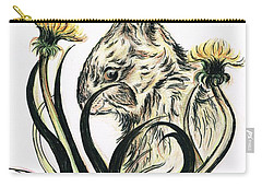 Rabbit- Amongst The Dandelions Carry-all Pouch by Teresa White