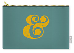 Ampersand Poster Blue And Yellow Carry-all Pouch by Naxart Studio