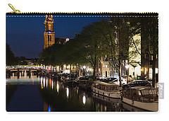 Amsterdam Blue Hour Carry-all Pouch by Georgia Mizuleva