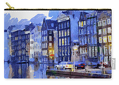 Amsterdam With Blue Colors Carry-all Pouch
