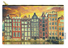 Carry-all Pouch featuring the painting Amsterdam by Taylan Apukovska