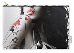 Amy Winehouse - ' Amy ' Carry-all Pouch by Christian Chapman Art