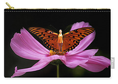 Carry-all Pouch featuring the photograph Amy The Butterfly by Susan Rovira
