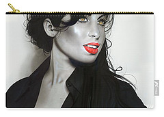 ' Amy Winehouse ' Carry-all Pouch by Christian Chapman Art