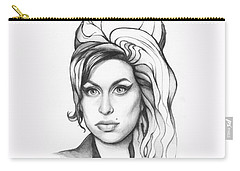 Amy Winehouse Carry-all Pouch by Olga Shvartsur