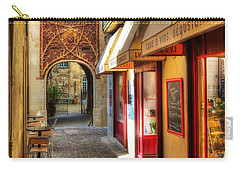 Carry-all Pouch featuring the photograph An Alley In Avignon by Mel Steinhauer