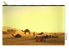 An Arab Encampment  Carry-all Pouch by Charles Theodore Frere