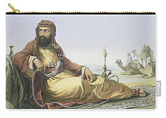 An Arab Resting In The Desert, Title Carry-all Pouch