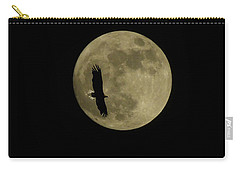 An Eagle And The Moon Carry-all Pouch by Mark Alan Perry