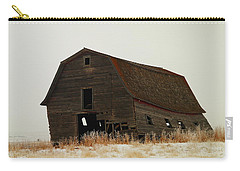 An Old Leaning Barn In North Dakota Carry-all Pouch by Jeff Swan
