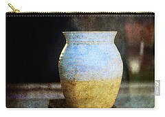 An Old Pot In Vintage Background Carry-all Pouch