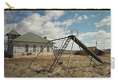 An Old School Near Miles City Montana Carry-all Pouch by Jeff Swan