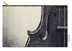 An Old Violin In Black And White Carry-all Pouch