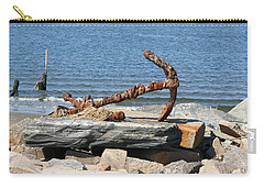Carry-all Pouch featuring the photograph Anchor by Karen Silvestri