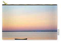 Carry-all Pouch featuring the photograph Anchored At Sunset by Kennerth and Birgitta Kullman