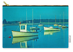 Carry-all Pouch featuring the photograph Anchored In Maine by Gary Slawsky