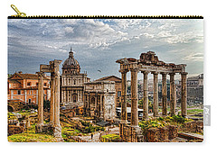 Ancient Roman Forum Ruins - Impressions Of Rome Carry-all Pouch by Georgia Mizuleva