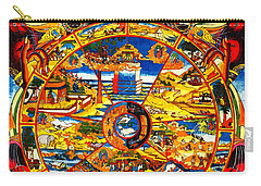 Ancient Tibetan Tangka Wheel Of Life Carry-all Pouch