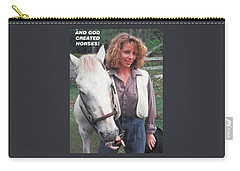 Carry-all Pouch featuring the photograph And God Created Horses by Belinda Lee