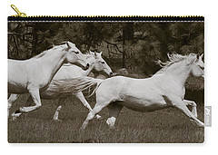 Carry-all Pouch featuring the photograph And The Race Is On D5932 by Wes and Dotty Weber