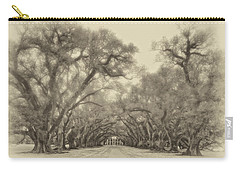 And Time Stood Still Sepia Carry-all Pouch
