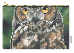 Carry-all Pouch featuring the painting And You Were Saying by Lori Brackett