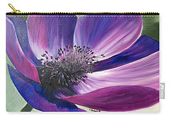 Anemone Coronaria Carry-all Pouch by Claudia Goodell