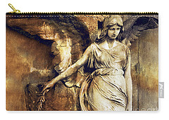 Angel Art - Surreal Gothic Angel Art Photography Dark Sepia Golden Impressionistic Angel Art Carry-all Pouch
