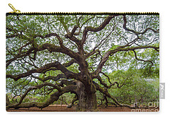 Carry-all Pouch featuring the photograph Angel Oak Tree by Dale Powell