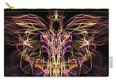 Carry-all Pouch featuring the digital art Angel Of Death by Lilia D