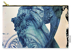 Carry-all Pouch featuring the digital art Angel Of Peace - Art Nouveau by Absinthe Art By Michelle LeAnn Scott