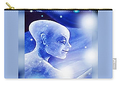 Carry-all Pouch featuring the painting Angel Portrait by Hartmut Jager