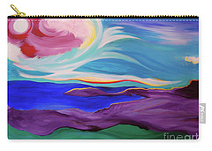 Carry-all Pouch featuring the painting Angel Sky by First Star Art