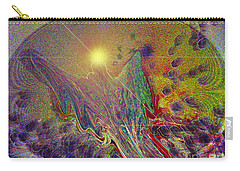 Angel Taking Flight Carry-all Pouch by Alison Caltrider