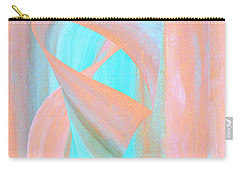 Carry-all Pouch featuring the digital art Angelfish by Stephanie Grant