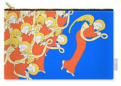 Angelic Chorale Of Horns Carry-all Pouch by Donna Huntriss