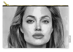 Angelina Jolie Black And White Carry-all Pouch
