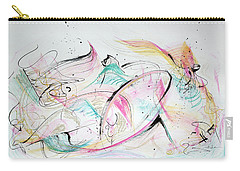 Carry-all Pouch featuring the painting Angels Arriving by Asha Carolyn Young