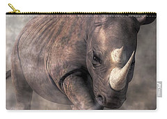 Angry Rhino Carry-all Pouch by Daniel Eskridge