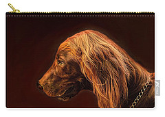 Carry-all Pouch featuring the photograph Angus Irish Red Setter by Wallaroo Images