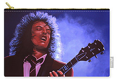 Angus Young Of Ac / Dc Carry-all Pouch by Paul Meijering