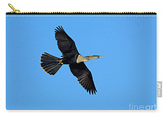 Anhinga Female Flying Carry-all Pouch by Anthony Mercieca
