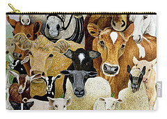 Animal Allsorts Oil On Canvas Carry-all Pouch