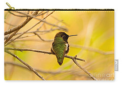 Carry-all Pouch featuring the photograph Anna's Glow  by John F Tsumas