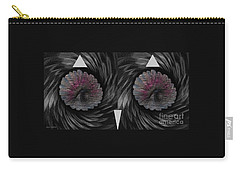 Carry-all Pouch featuring the mixed media Ann's Owl 1 by Ann Calvo