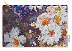 Carry-all Pouch featuring the painting Another Cluster Of Daisies by Richard James Digance