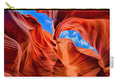 Carry-all Pouch featuring the photograph Antelope Canyon Walls by Greg Norrell